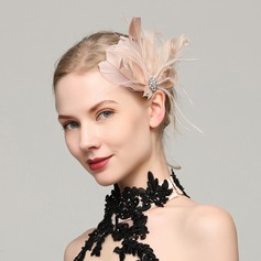 Dames Exquis Feather avec Feather Chapeaux de type fascinator/Kentucky Derby Des Chapeaux/Chapeaux Tea Party