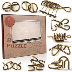 Toys Modern Metal Brain Teaser Puzzle Set Non-personalized Gifts (129140516)