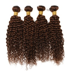 4A Non remy Kinky Curly Human Hair Human Hair Weave (Sold in a single piece) 100g (235147183)