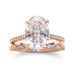 Sterling Silver Cubic Zirconia Dainty Halo Vintage Oval Cut Engagement Rings Promise Rings Bridal Sets