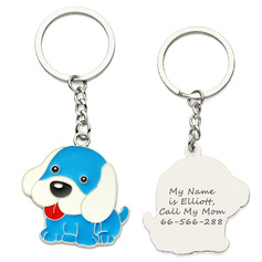 Personalized Animal Shaped/Dogs Zinc Alloy Keychains