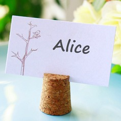 Bottle Stopper and Cork Place Card Holder