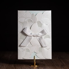 Classic Style/Floral Style Side Fold Invitation Cards With Bows
