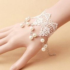 Beautiful Fabric With Imitation Pearl Lace Women's Fashion Bracelets (Sold in a single piece)