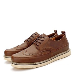 Men's Real Leather Brogue Casual Men's Loafers