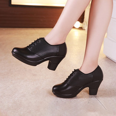 Women's Leatherette Heels Modern Character Shoes With Hollow-out Lace-up Dance Shoes