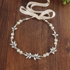 Simple Alloy Headbands With Venetian Pearl (Sold in single piece)
