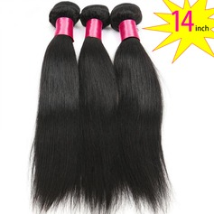 14 inch 8A Grade Brazilian Straight Virgin human Hair weft(1 Bundle 100g)