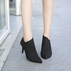 Women's Canvas Stiletto Heel Boots Ankle Boots With Others shoes