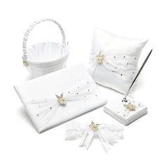 Gorgeous Collection Set in Satin With Rhinestones/Pearl