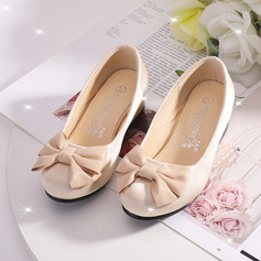 Flicka Stängt Toe Satin Flower Girl Shoes med Bowknot