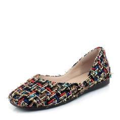 Women's Fabric Flat Heel Flats Closed Toe shoes