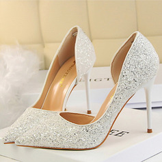 Women's Sparkling Glitter Stiletto Heel Closed Toe Pumps With Others (273214749)
