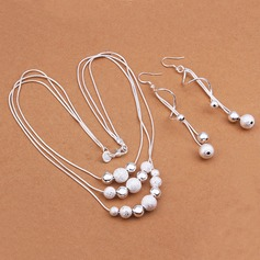 Lovely Silver Plated Ladies' Jewelry Sets