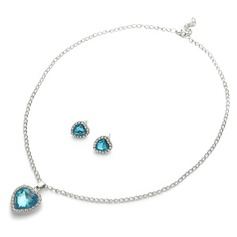 Heart of the Ocean Alloy/Rhinestones Ladies' Jewelry Sets