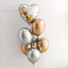 Beautiful Elegant Aluminium Foil/Emulsion Balloon