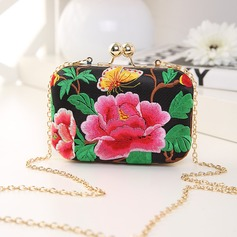 Delicate PVC/Embroidery Clutches