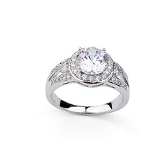 Charming Alloy With Cubic Zirconia Ladies' Rings