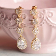 Beautiful Rhinestones/Zircon With Rhinestone Ladies' Earrings