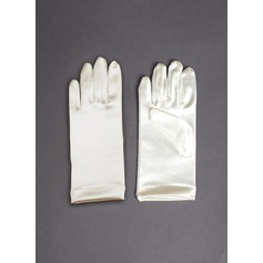 Elastic Satin Wrist Length Glove