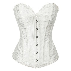 Women Sexy/Night Club Spandex/Chinlon Waist Cinchers/Corset With Ruffles/Printing Shapewear