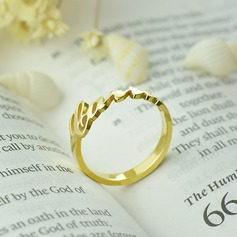 Personalized Unisex Hottest Gold Plated With Round Name Rings For Bride/For Bridesmaid/For Friends