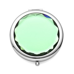 Personalized Round Zinc Alloy Compact Mirror