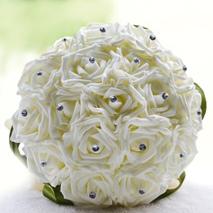 Round Artificial Silk Bridal Bouquets -