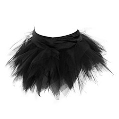 Women Night Club Tulle Panty Shapers With Ruffles Shapewear