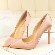 Women's Satin Stiletto Heel Pumps Closed Toe shoes