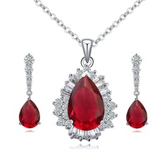 Beautiful Alloy Zircon Ladies' Jewelry Sets