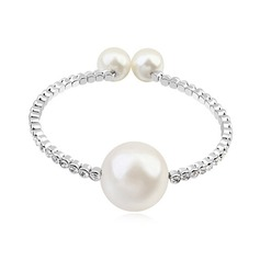 Elegant Crystal/Platinum Plated Ladies' Bracelets