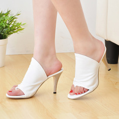 Women's Leatherette Stiletto Heel Sandals Pumps Slippers shoes