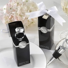 Stainless Steel With Acrylic Diamond Bottle Stopper