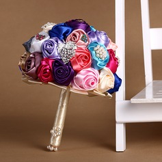 Colorful Round Satin/Silk Bridal Bouquets