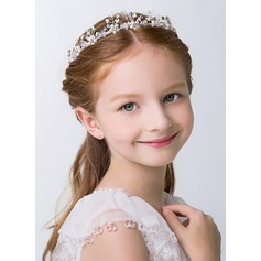 White Alloy Lovely Flower Girl Headbands (198121138)