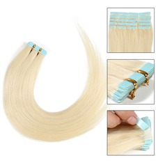 4A Straight Human Hair Tape in Hair Extensions 20PCS