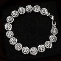 Exquisite Alloy With Cubic Zirconia Ladies' Bracelets