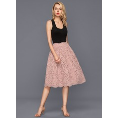 Forme Princesse Longueur genou Dentelle Robe de cocktail