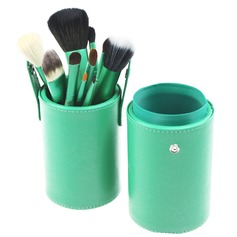 13 Pcs Natural Goat Hair Makeup Brush Set With Brush Cylinder Tube (046049509)
