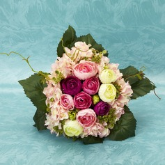 Nice Round Satin Bridal Bouquets -