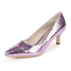 Women's Patent Leather Stiletto Heel Pumps With Animal Print