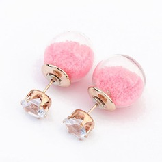 Fashional Alloy/Rhinestones/Glass With Rhinestone Ladies' Earrings