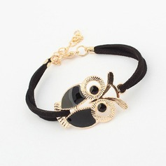 Cute Owl Alloy Resin Women's Fashion Bracelets