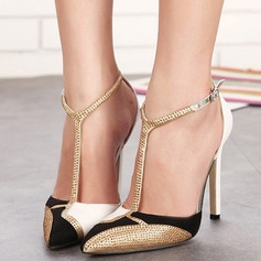 Women's Leatherette Stiletto Heel Pumps With Sequin shoes (085103380)