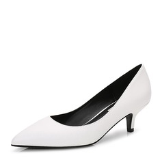 Women's Leatherette Stiletto Heel Pumps Closed Toe With Others shoes (085155278)