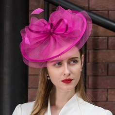 Damer' Härlig Batist med Fjäder Fascinators/Kentucky Derby Hattar