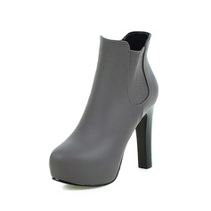 Women's Leatherette Stiletto Heel Platform Ankle Boots With Zipper shoes