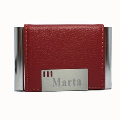 Personalized Elegant Leather Card Case