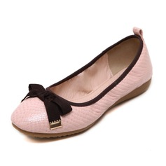 Women's Leatherette Flat Heel Flats Closed Toe shoes (086092687)